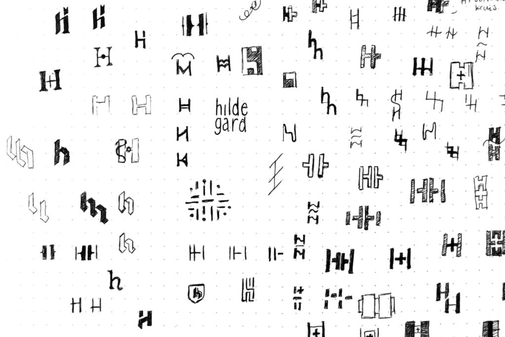 Schetsen voor logo huisartsenpraktijk Hillegersberg